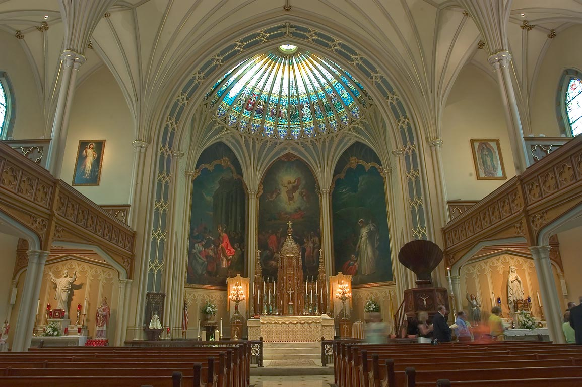 Interior of St.Patrick's Catholic Church at 724 Camp St.. New Orleans, Louisiana