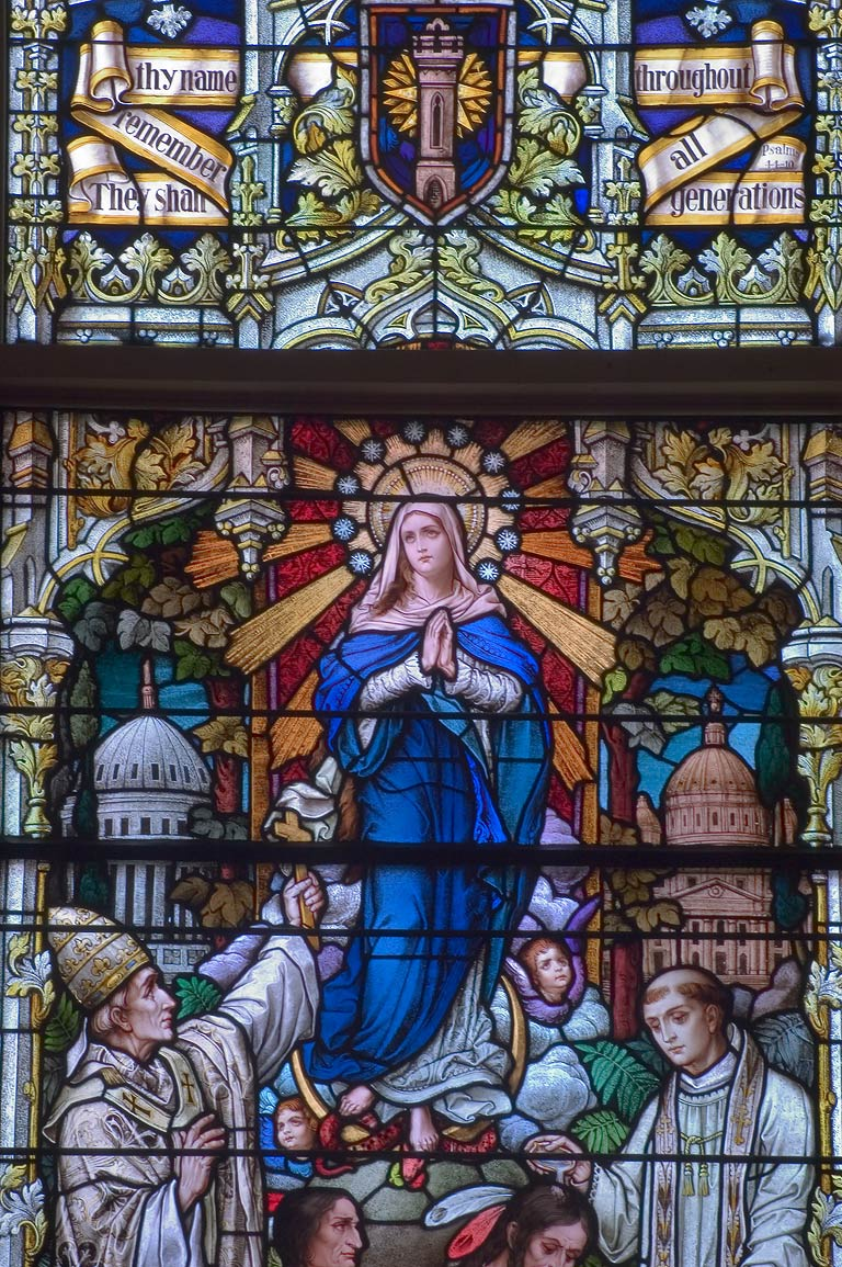Stained glass window of St.Patrick's Catholic...724 Camp St.. New Orleans, Louisiana