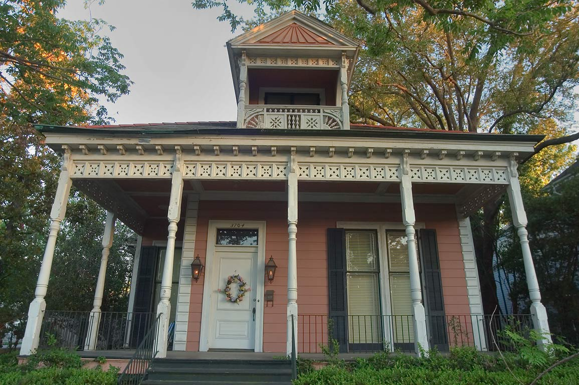 Rosewood center hall (1880) at 3704 Coliseum St...neighborhood. New Orleans, Louisiana