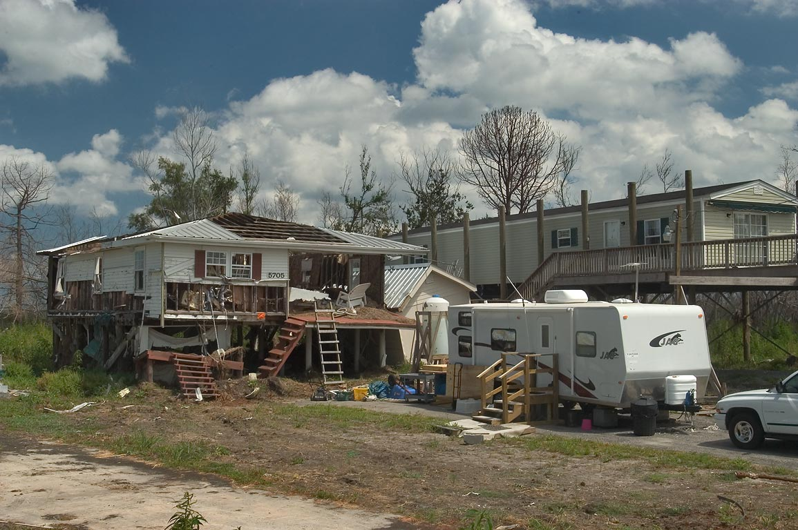 Temporary housing (FEMA trailer) at 5705 Rd. 300...East from New Orleans, Louisiana