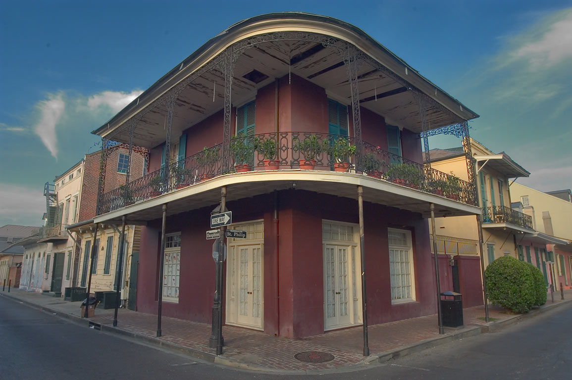 A corner house at 841 St.Philip St. (corner with...French Quarter. New Orleans, Louisiana