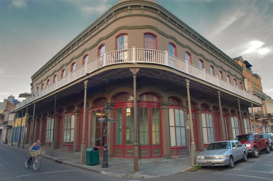 A corner of Ursulines Ave. and Royal St. in French Quarter. New Orleans, Louisiana