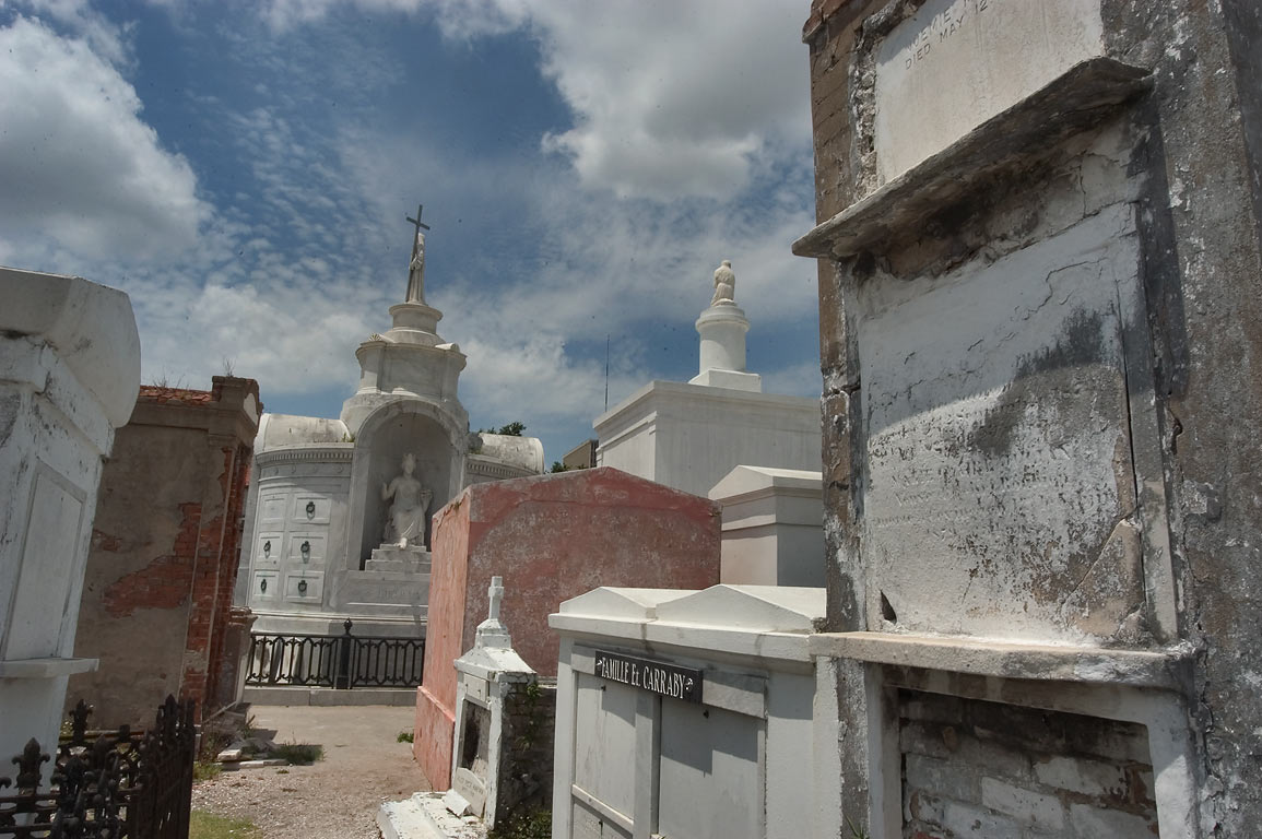 Tombs of St.Louis Cemetery No. 1, with a...in background. New Orleans, Louisiana