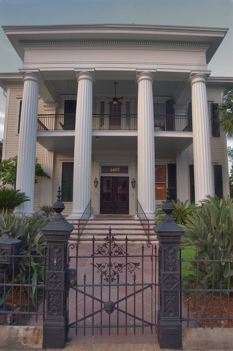 Pritchard-Pigott house at 1407 First St. in Garden District. New Orleans, Louisiana