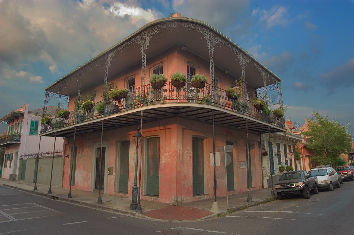 Corner of Dauphine and Ursulines streets in French Quarter. New Orleans, Louisiana