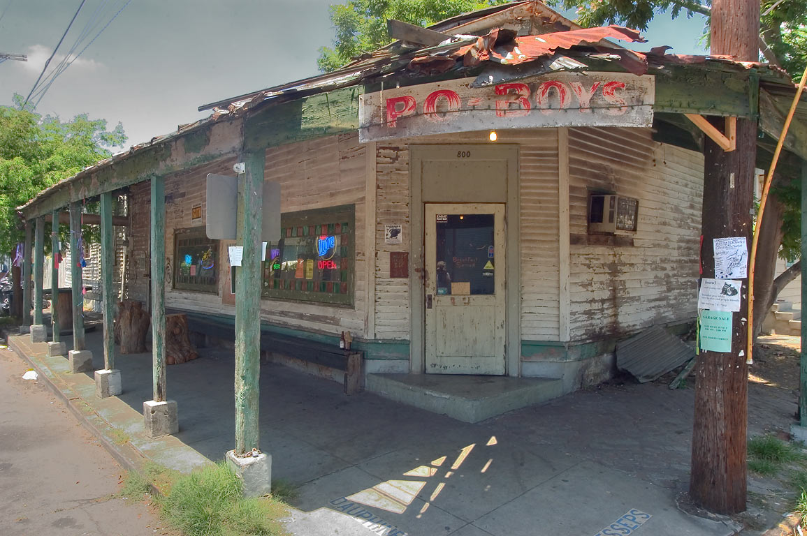 "Po-Boys"" sandwich cafe (Vaughan's Lounge) at a...in Bywater. New Orleans, Louisiana"
