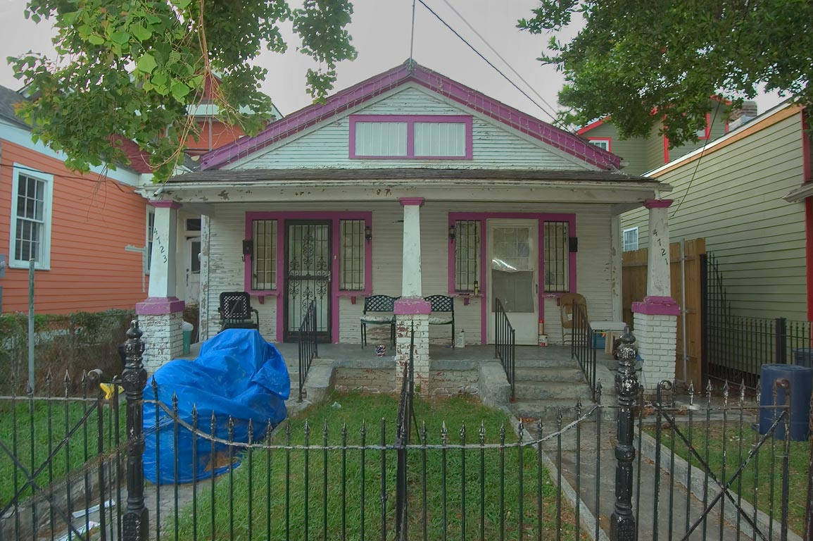 A house at 4721-4723 Camp St., near Valence St. in Uptown. New Orleans, Louisiana