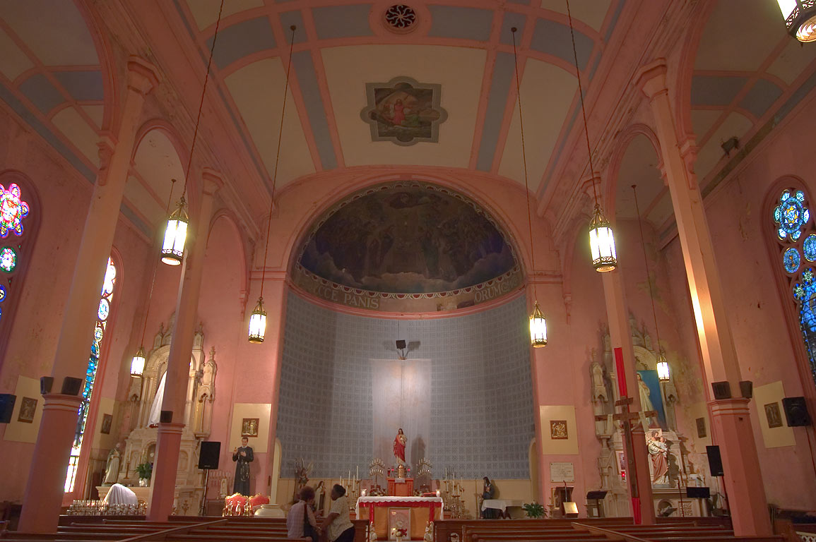 Interior of St.Peter and Paul Catholic Church at...Marigny. New Orleans, Louisiana