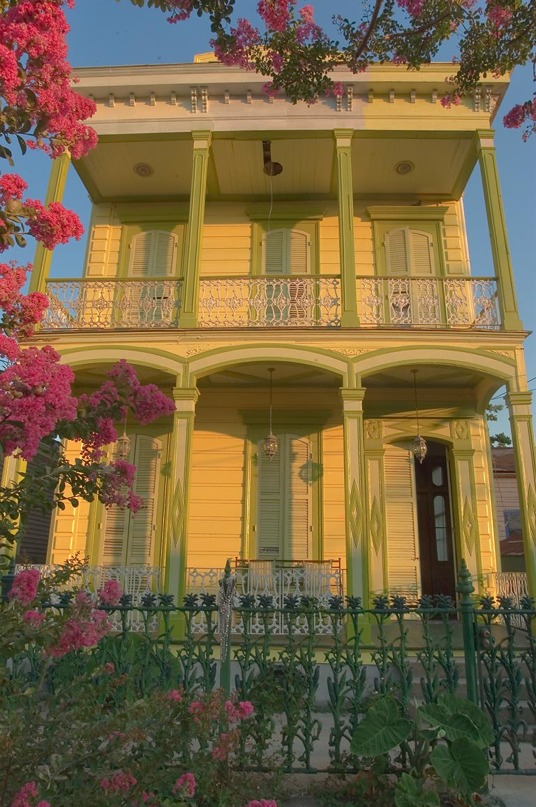 A double gallery house on Dauphin St. near...Marigny. New Orleans, Louisiana