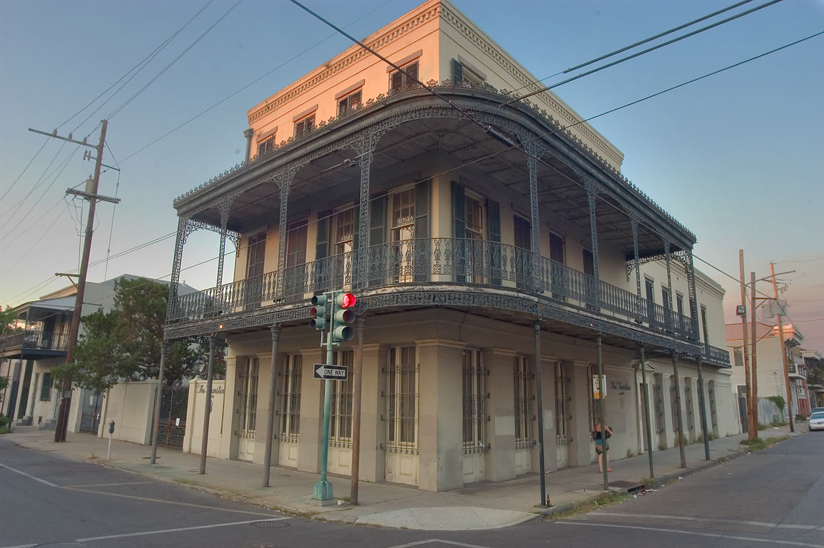 Ferdinand Nolting-the Teamsters House at a corner...Marigny. New Orleans, Louisiana