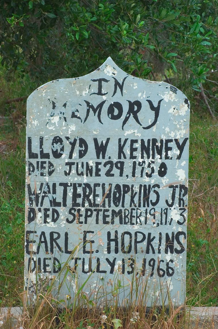 A headstone of Lloyd W. Kenney, Walter E. Hopkins...Holt Cemetery. New Orleans, Louisiana