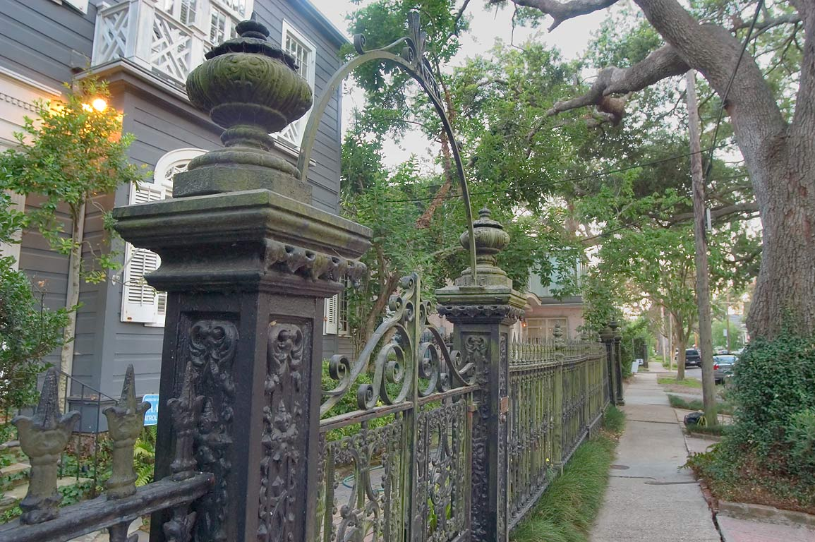 Iron gate at 377 Audubon St.. New Orleans, Louisiana