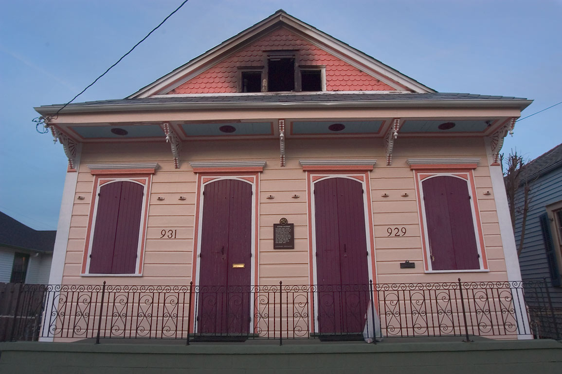 Stephen Residence at 929-931 Mandeville Street in Faubourg Marigny. New Orleans, Louisiana