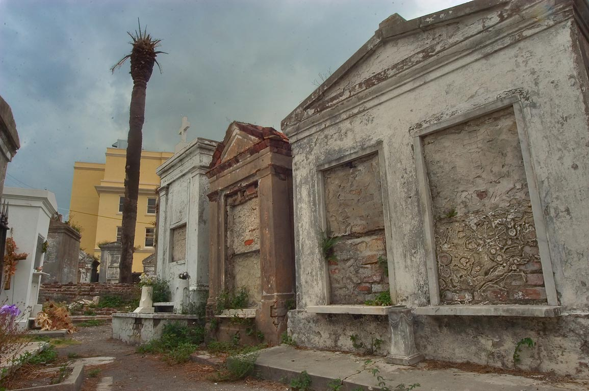 A lane in St.Louis Cemetery No. 1. New Orleans, Louisiana