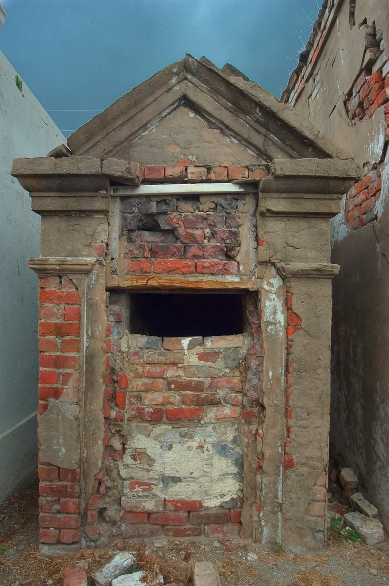 Old crypt in St.Louis Cemetery No. 2. New Orleans, Louisiana