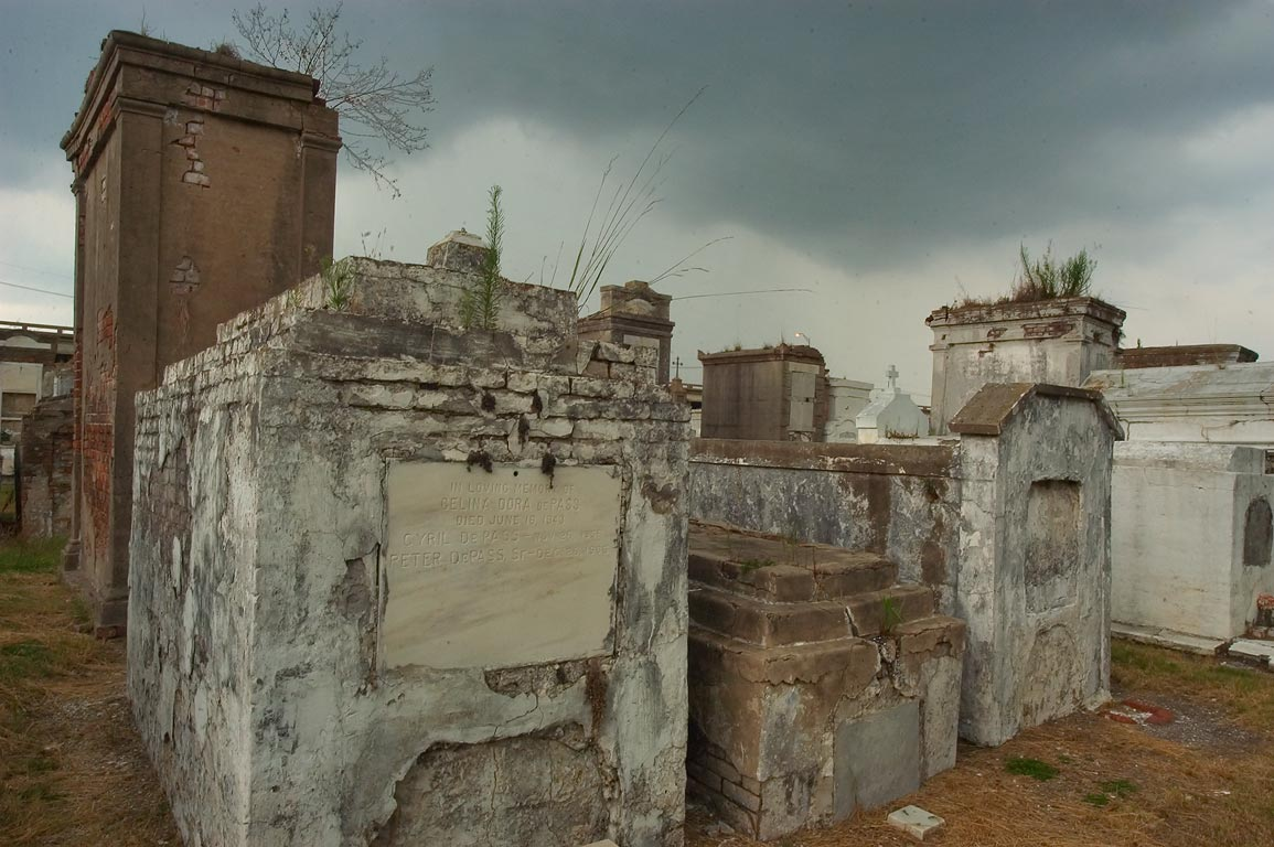 Group of tombs in St.Louis Cemetery No. 2. New Orleans, Louisiana