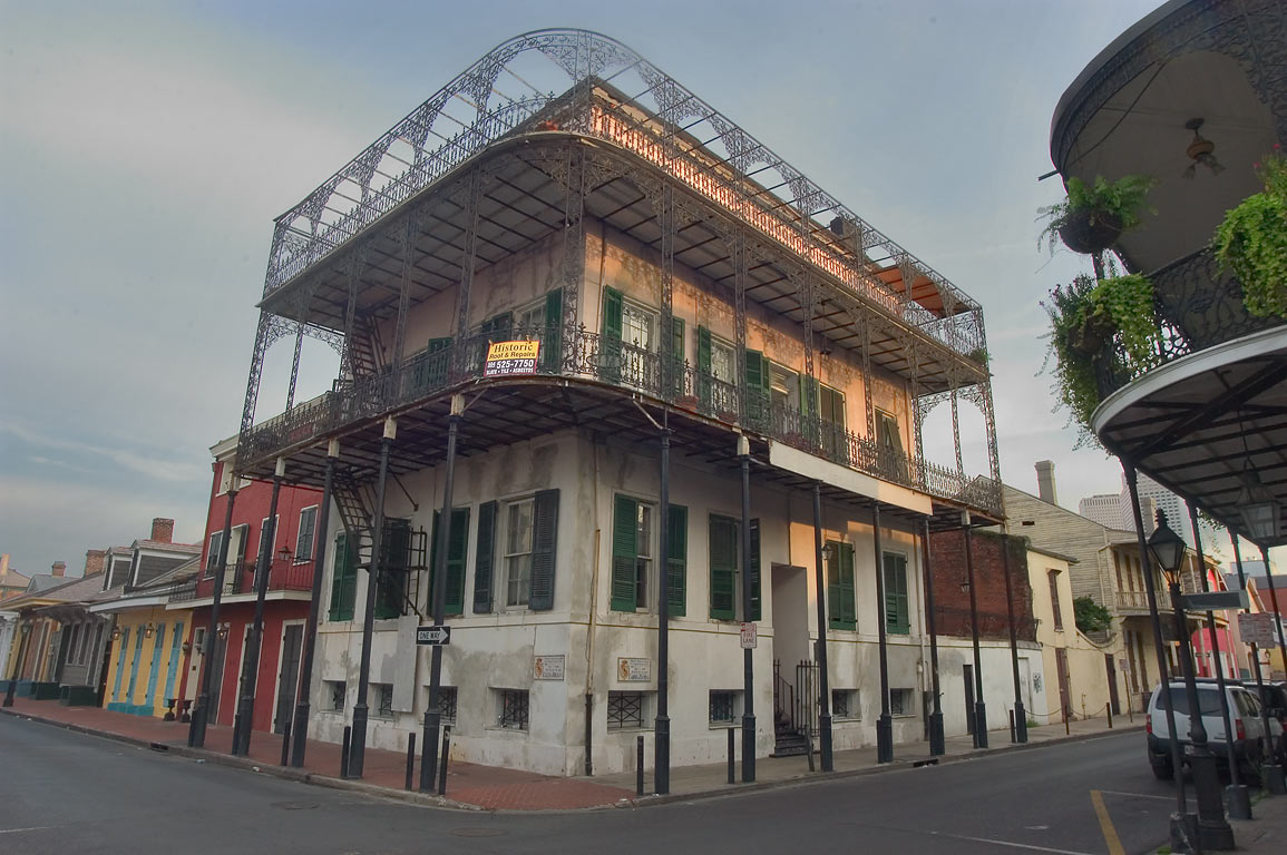 Iron balconies of Gardette-LaPretre House (1836...French Quarter. New Orleans, Louisiana