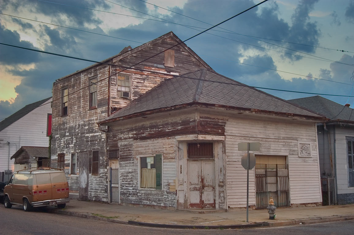 A corner of Royal and Bartholomew streets in Bywater. New Orleans, Louisiana