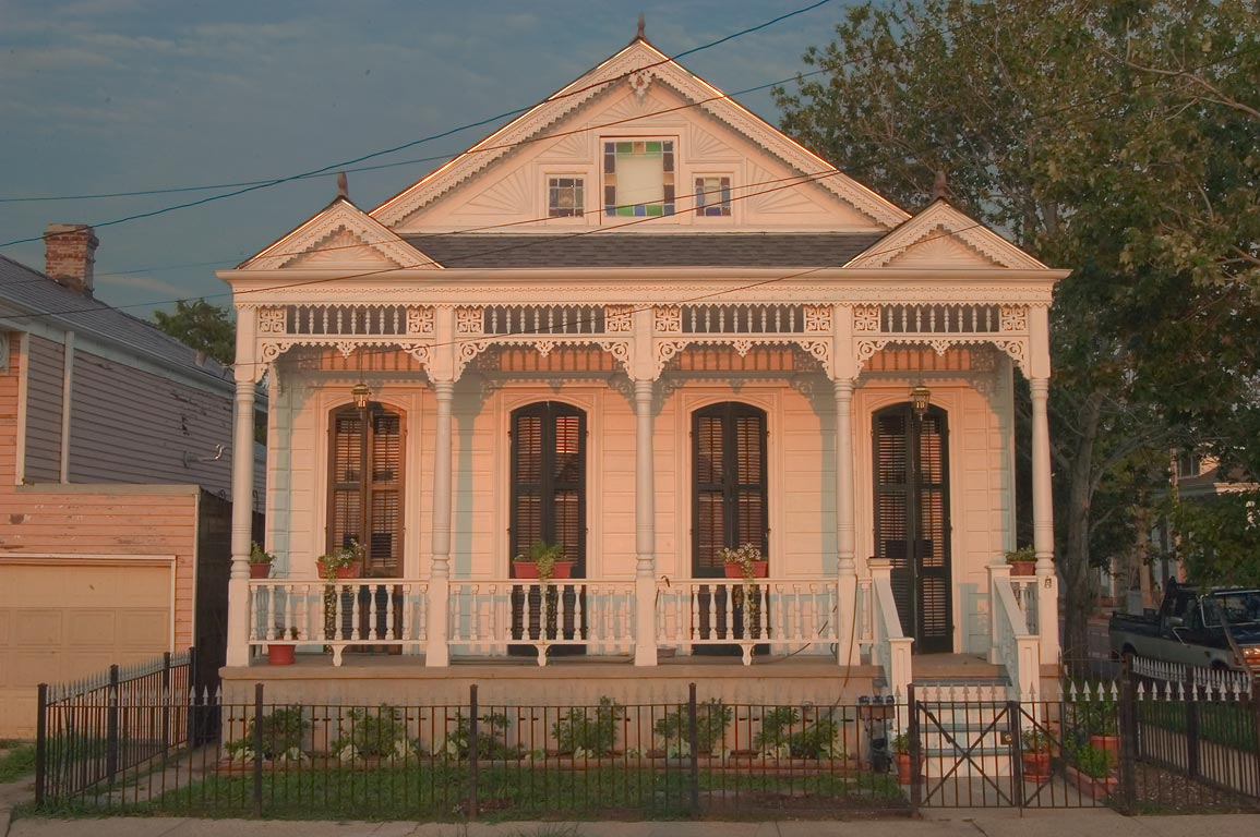 A house on East Moss St., a corner of DeSoto St...neighborhood. New Orleans, Louisiana