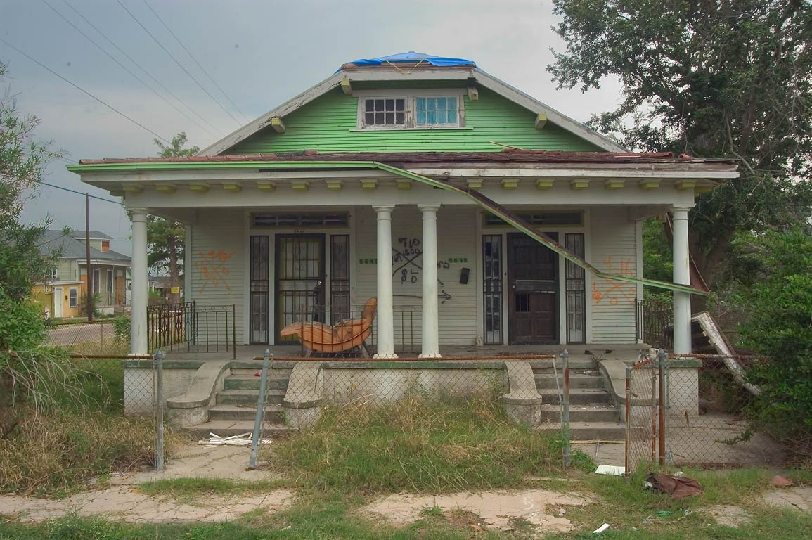 A house at 5638-5640 Dauphine St. near Lamanche...neighborhood. New Orleans, Louisiana