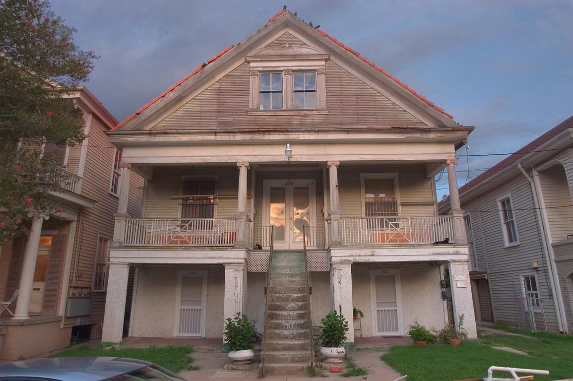 A house at 1212 North Gayoso St., near Bell St...neighborhood. New Orleans, Louisiana