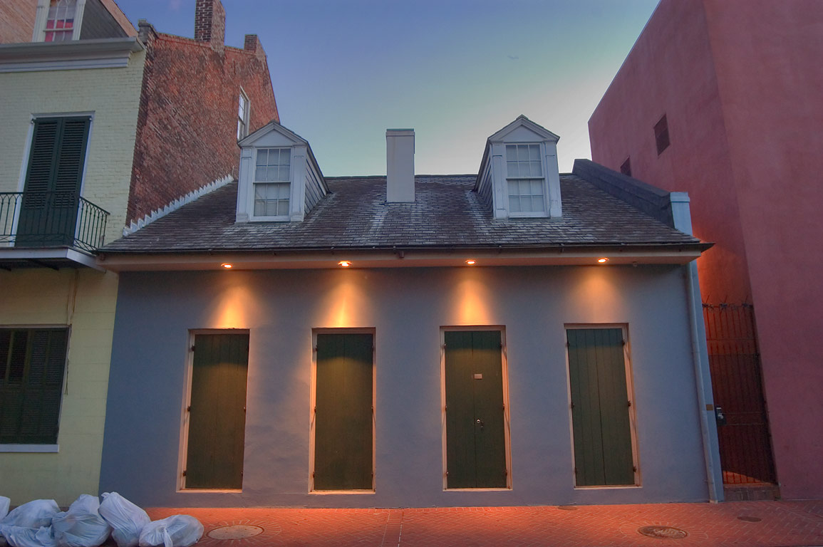 A Creole cottage on Bienville St. near Burgundy...French Quarter. New Orleans, Louisiana