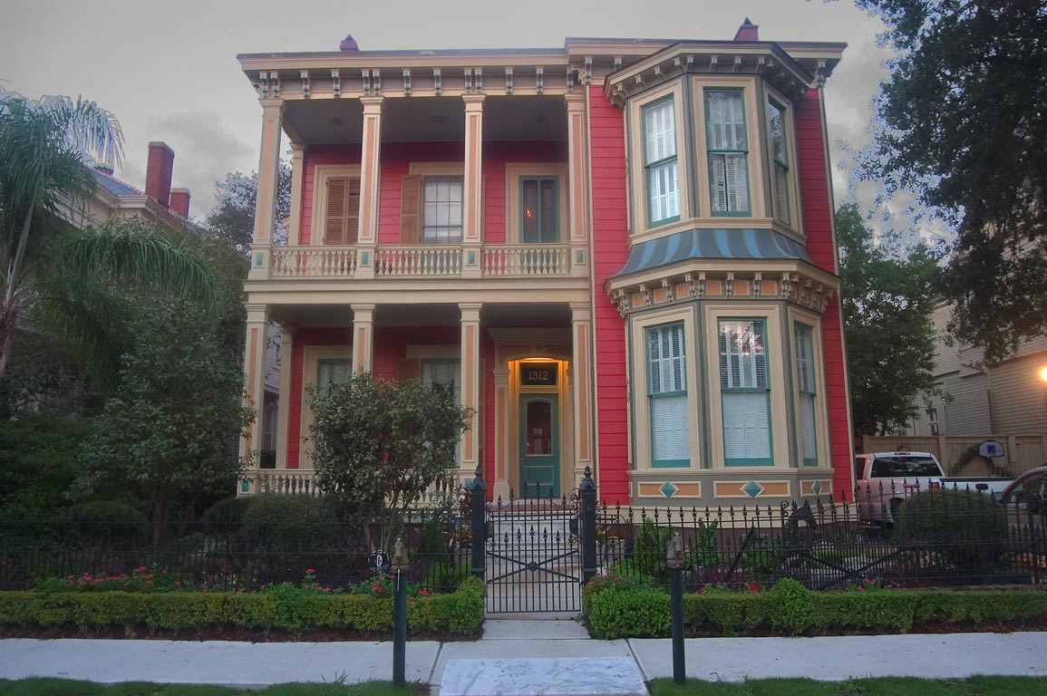 "The ""White House"" at 1312 First St., near...District. New Orleans, Louisiana"