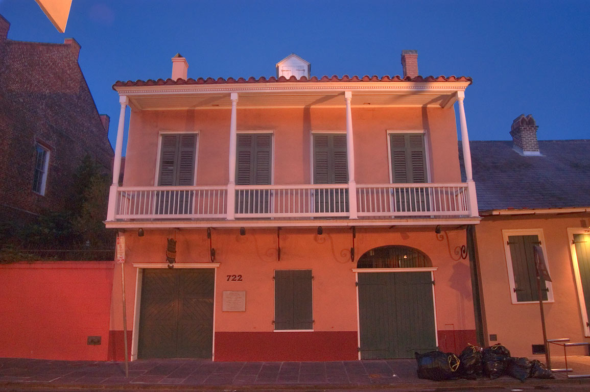 Louis Adam House (1788) and Williams Residence at...French Quarter. New Orleans, Louisiana