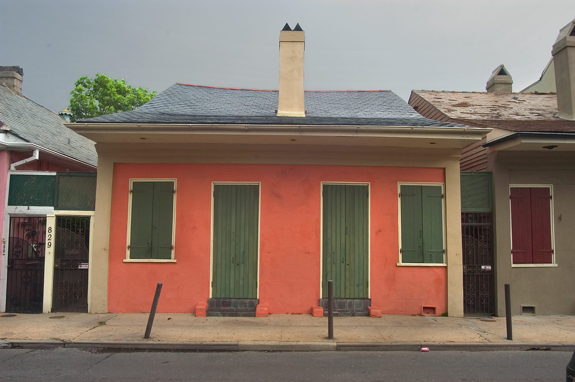 Creole cottage near 829 St.Philip St. and...French Quarter. New Orleans, Louisiana