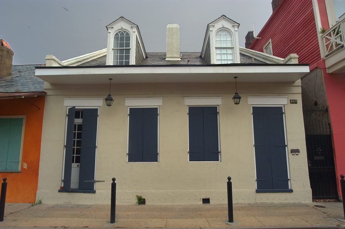 Creole cottage at 927 St.Philip St. near Dauphine...French Quarter. New Orleans, Louisiana