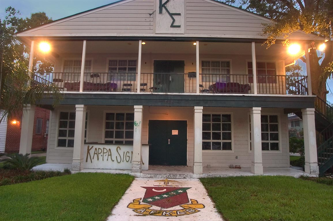 Kappa Sigma fraternity at 642 Broadway St. near...neighborhood. New Orleans, Louisiana