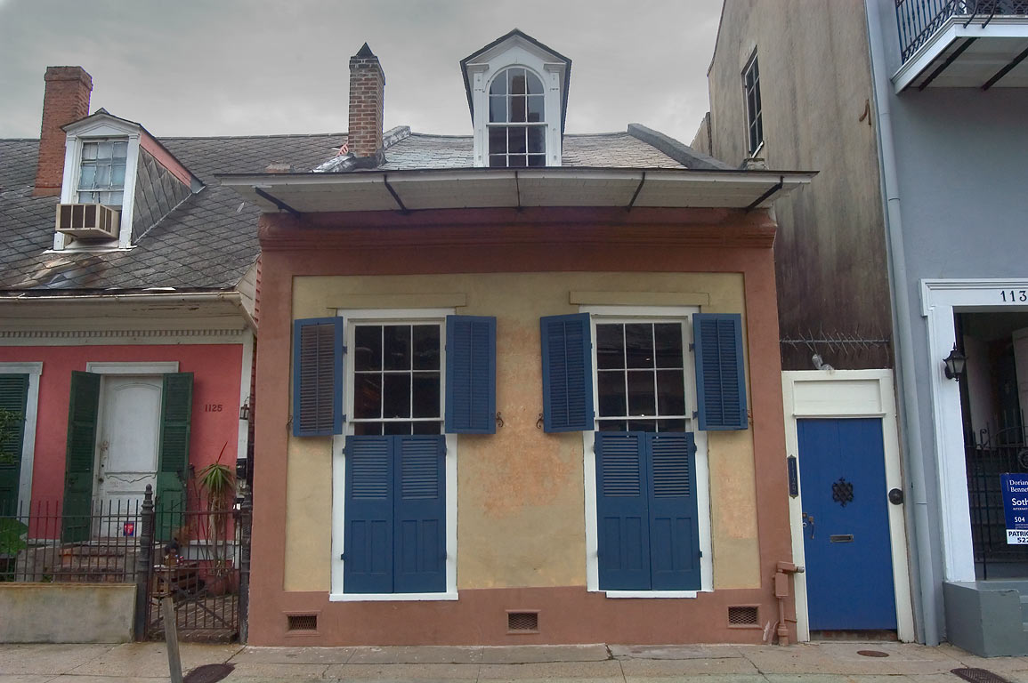 Creole cottage at 1129 Burgundy St. near St.Ann...French Quarter. New Orleans, Louisiana