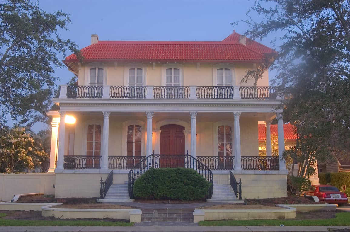 McGuirk-Geoghagen-Roy-Conwill IV House (1912) at...at morning. New Orleans, Louisiana