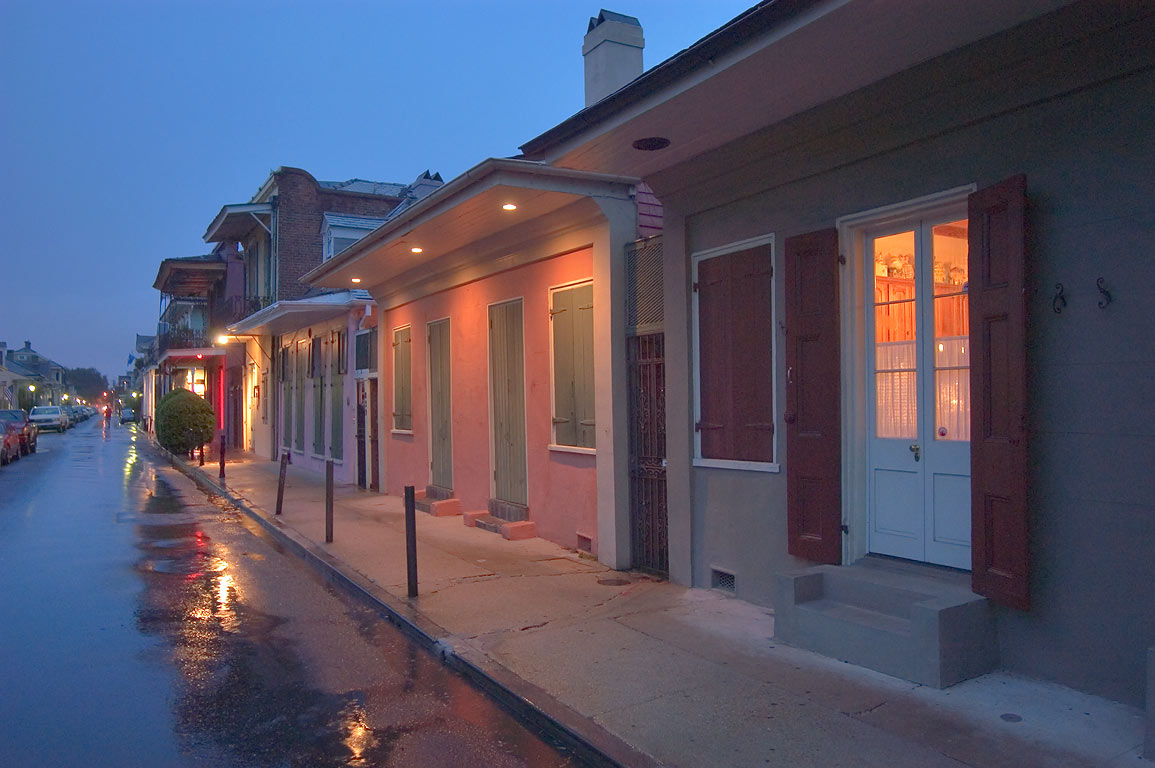 St.Philip St. near Bourbon Street in French Quarter. New Orleans, Louisiana