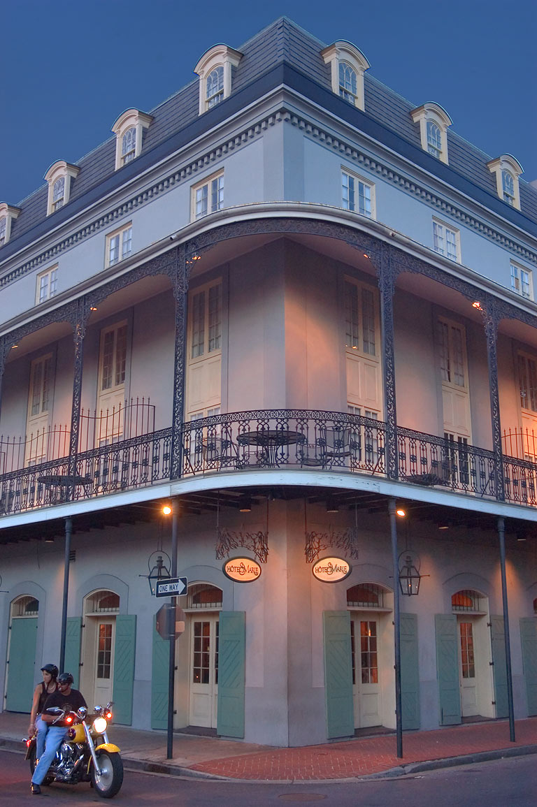 photo 542 11 hotel st marie at a corner of toulouse and french quarter new orleans louisiana. Black Bedroom Furniture Sets. Home Design Ideas