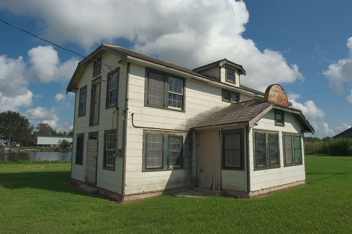 A house between Rd. 57 and Bayou Grand Caillou, Terrebonne Parish. Dulac, Louisiana