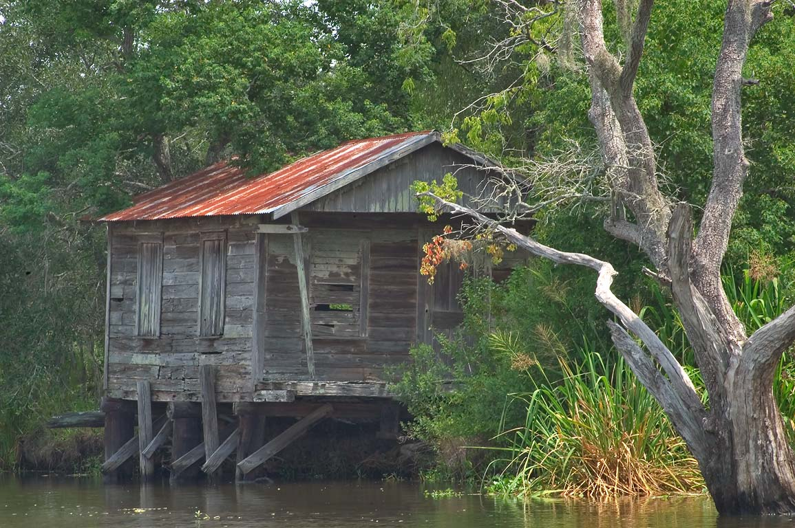 A fishing cabin in Bayou Gauche, St.Charles Parish. Bayou Gauche, Louisiana