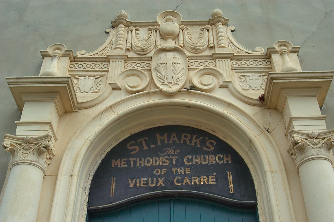 St.Mark's Methodist Church of the Vieux Carre on...French Quarter. New Orleans, Louisiana