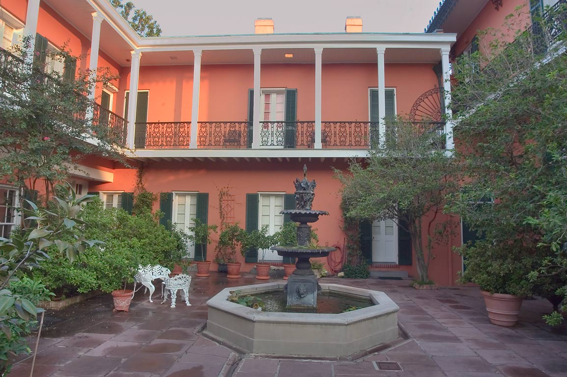 A courtyard of Gauche House (1856) at 1315 Royal...French Quarter. New Orleans, Louisiana