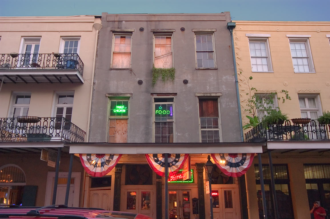 1136-1140 Decatur St. near Governor Nicholls St. in French Quarter. New Orleans, Louisiana