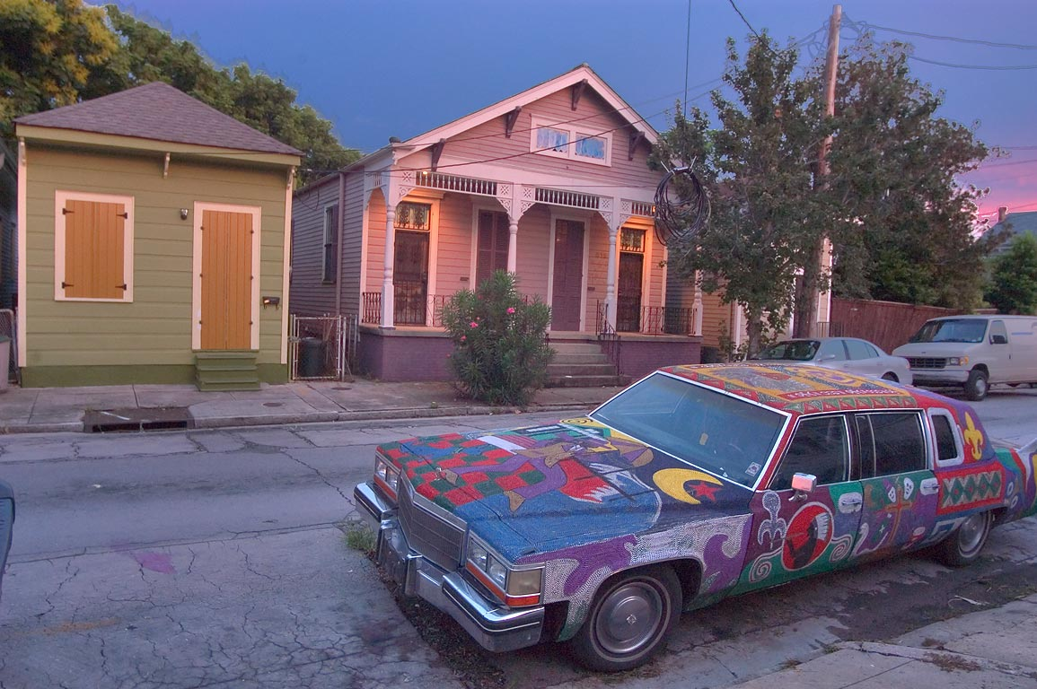 Desire Street in Bywater. New Orleans, Louisiana