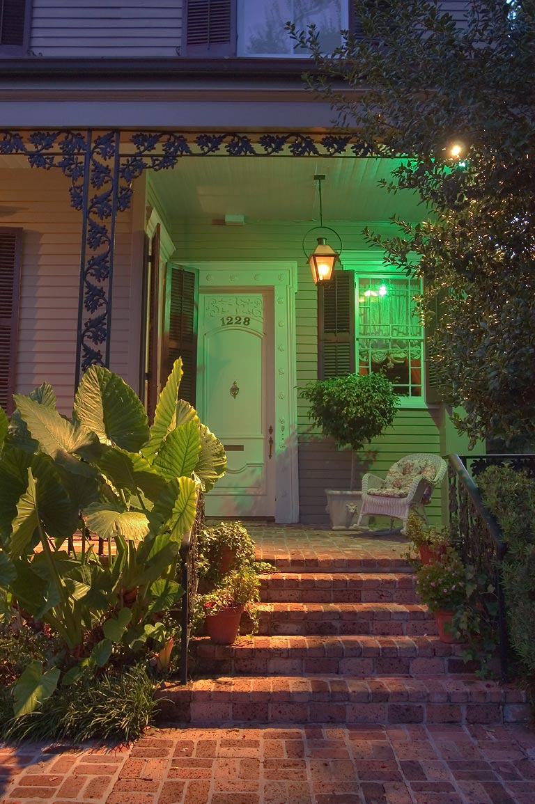 A porch at 1228 Third St. near Chestnut St. in...at evening. New Orleans, Louisiana