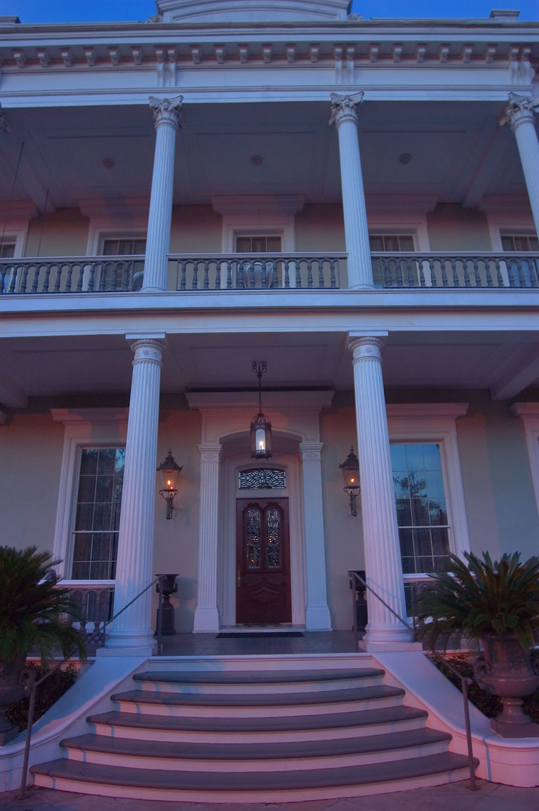A porch of Robinson House at 1415 Third St. in...at evening. New Orleans, Louisiana
