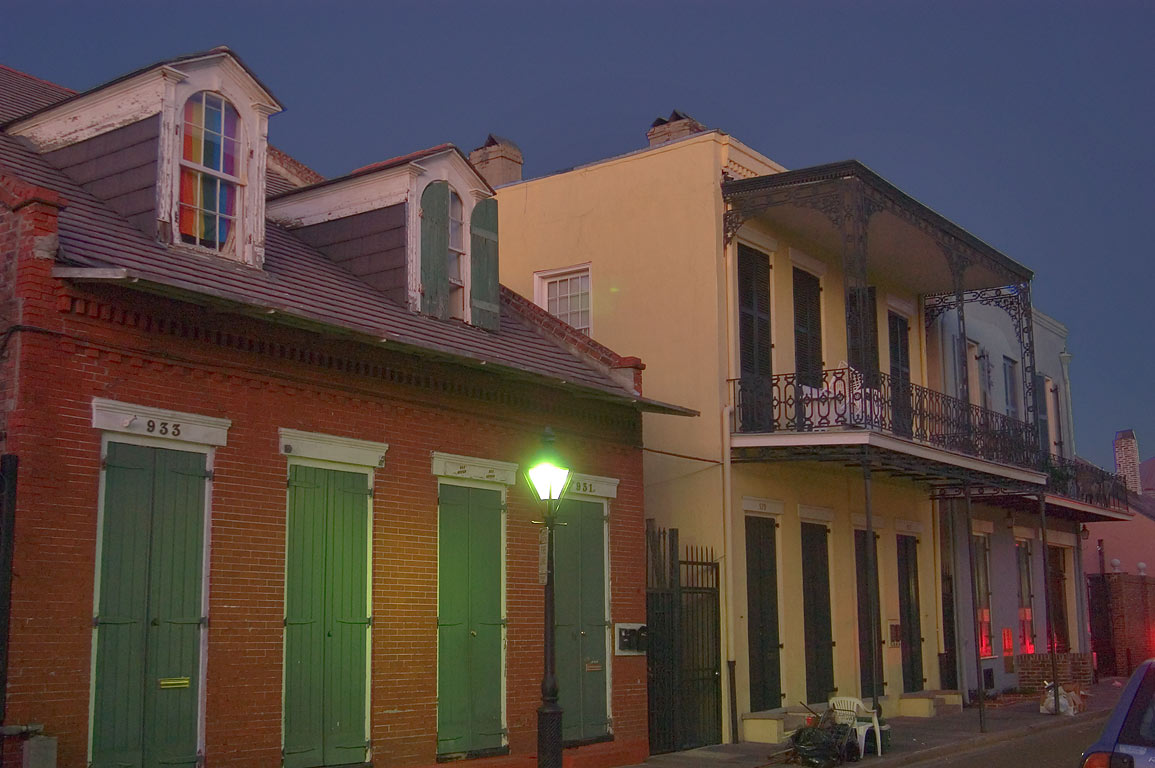 931-933 Orleans Street in French Quarter. New Orleans, Louisiana
