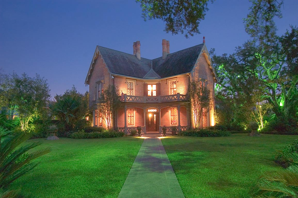 Wilkinson-Coe House (1849-1850, restored 1965) at...St. at evening. New Orleans, Louisiana