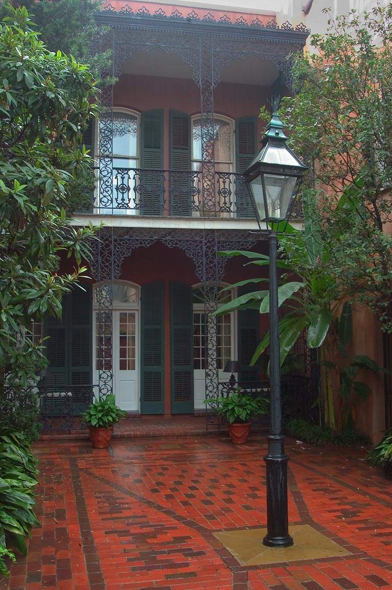 A courtyard of Williams Residence at 718 Toulouse...French Quarter. New Orleans, Louisiana