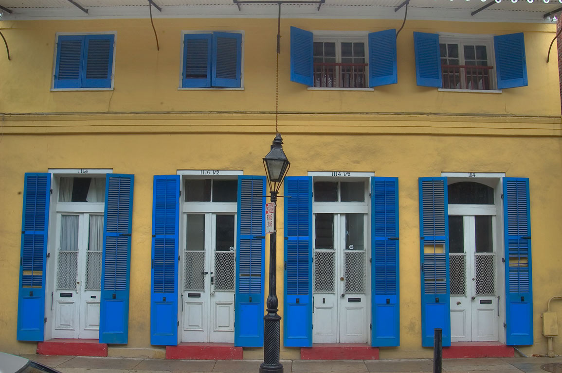 1114-1116 Royal St. near Ursulines St. in French Quarter. New Orleans, Louisiana