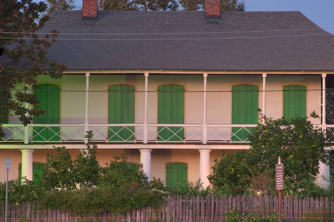 Pitot House at 1440 East Moss St. in Bayou St.John neighborhood. New Orleans, Louisiana