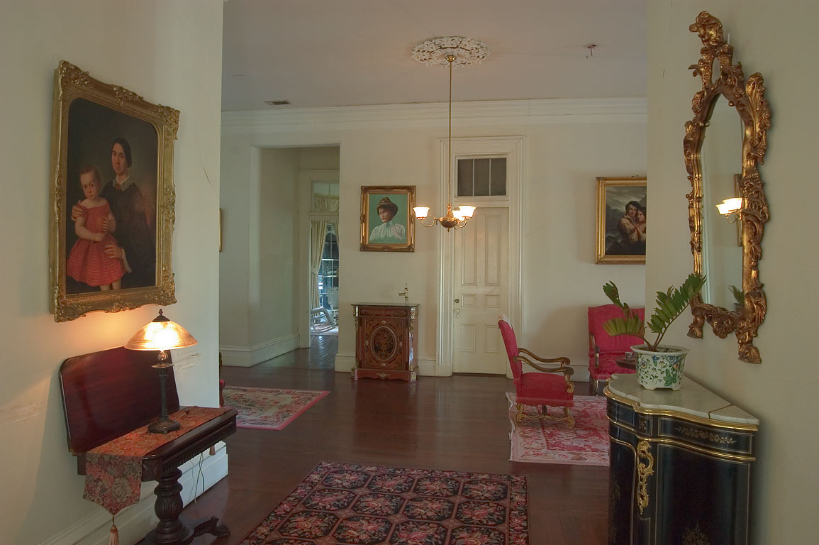 A hall in Nottoway Plantation in White Castle. Louisiana