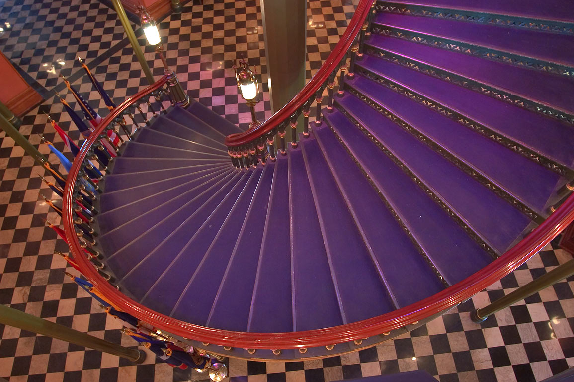 Cast iron circular staircase in Old State Capitol. Baton Rouge, Louisiana